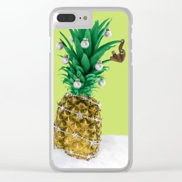 Christmas pineapple Clear iPhone Case