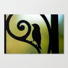 Bird on the Ironwork Canvas Print
