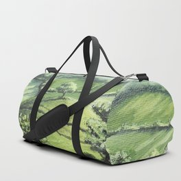 River and grass field Duffle Bag