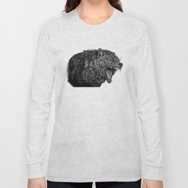 Black Wolf Long Sleeve T-shirt