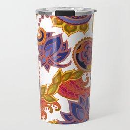 Paisley of '71 - orange Travel Mug