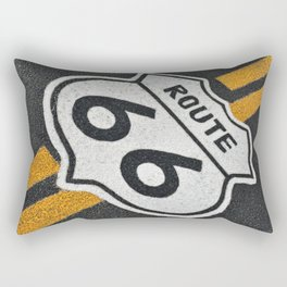 Route 66 sign. Rectangular Pillow
