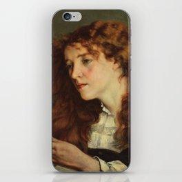 Gustave Courbet - Portrait of Jo, the Beautiful Irish Girl iPhone Skin