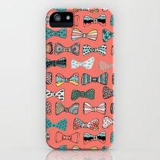 Bow tie geek in pink Slim Case iPhone (5, 5s)