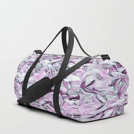 Snowy Confetti Lavender Gray Duffle Bag