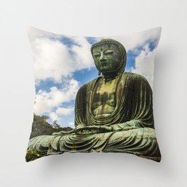Great Buddha of Kamakura / Daibutsu Throw Pillow