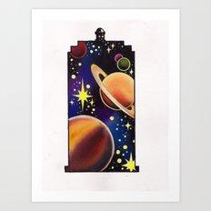 space tardis Art Print