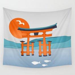 Japanese Shinto at Morning Wall Tapestry