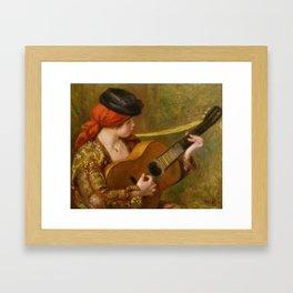 "Auguste Renoir ""Jeune Espagnole jouant de la guitare""(Young Spanish Woman Playing a Guitar) Framed Art Print"