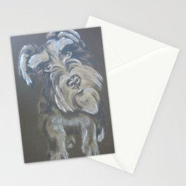 Inquisitive Schnauzer Stationery Cards