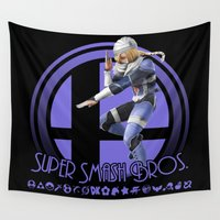 super smash bros Wall Tapestries featuring Sheik - Super Smash Bros. by Donkey Inferno