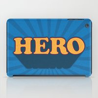 hero iPad Cases featuring Hero by Word Quirk