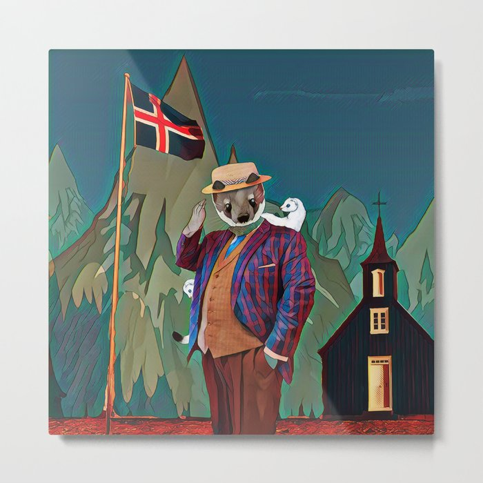 Ermine in the Iceland Metal Print