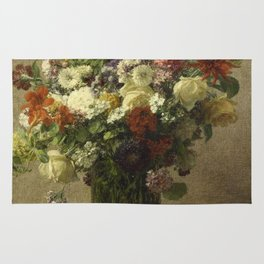 Henri Fantin-Latour - Flowers From Normandy Rug