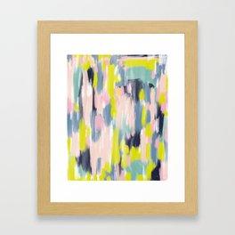 Abstract Brush Stroke Art in Modern Color Palette Framed Art Print