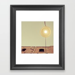 Under the Street Lamp Framed Art Print