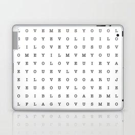 LOVE word search Laptop & iPad Skin