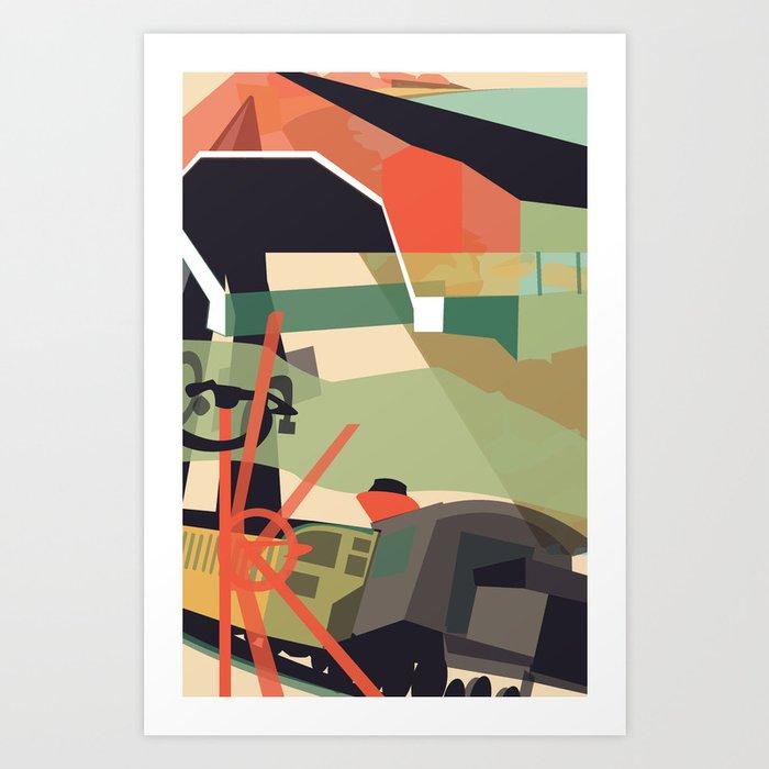 NH Collage Poster Art Print