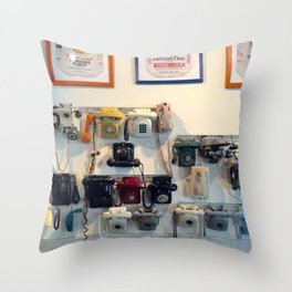 Vintage Telephones Throw Pillow