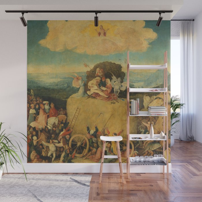 fc954a20be2 The Haywain Triptych - Hieronymus Bosch Wall Mural by maryedenoa ...