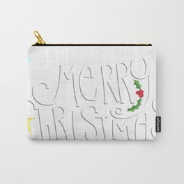 Merry Christmas Hat Scarf Star Carry-All Pouch