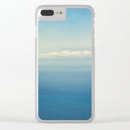 Blue Infinite Clear iPhone Case