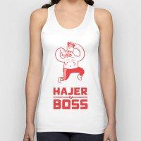 boss Tank Tops featuring Hajer Boss by Krzysztof Kaluszka
