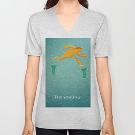 The sinking of classical civilization  Unisex V-Neck