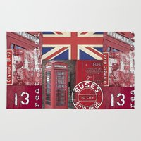 british Area & Throw Rugs featuring Very British by LebensART