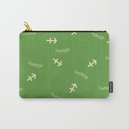 Sagittarius Pattern - Green Carry-All Pouch