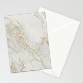 Marble Love Bronze Metallic Stationery Cards