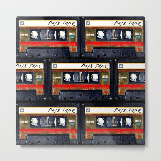 Retro cassette mix tape Metal Print