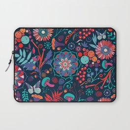 Ripe autumn – cyan and red Laptop Sleeve