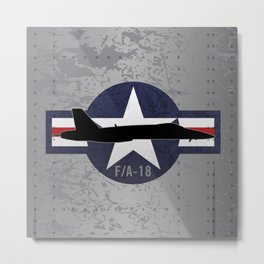 F/A-18 Super Hornet Military Fighter Jet Aircraft Metal Print