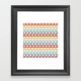 Summer Chevron  Framed Art Print