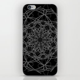 mandala in black iPhone Skin