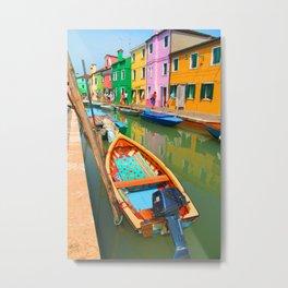 burano, italy - boat Metal Print