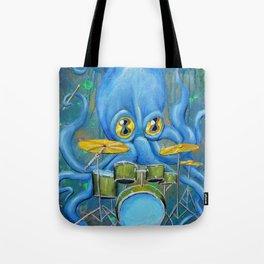 Octopus on Drums Tote Bag