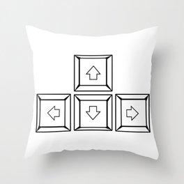 Keyboard Arrows Throw Pillow