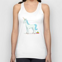 poop Tank Tops featuring Unicorn Poop by See Mike Draw