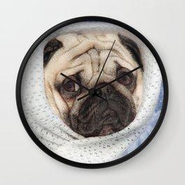 Cute pug face, Pug alien, Sad pug, Pug Planet, Nursery Wall Art, Pug dog, Pug decor Wall Clock