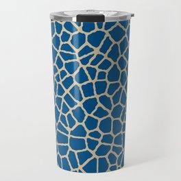 staklo (dark blue with coffee) Travel Mug