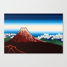 Rainstorm Below the Summit Canvas Print