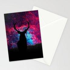 Deer Galaxy Stationery Cards