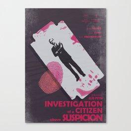 Investigation of a citizen above suspicion, italian movie, Elio Petri, Gian Maria Volontè Canvas Print