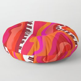 The Psychedelic Grand Piano of Salvador Dalí Floor Pillow