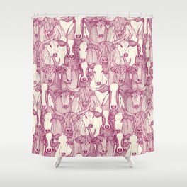 just cattle cherry pearl Shower Curtain