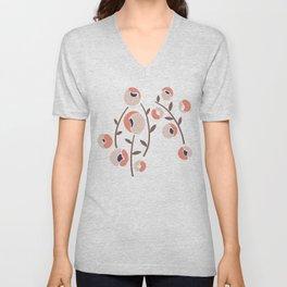 Stylized Flowers Unisex V-Neck