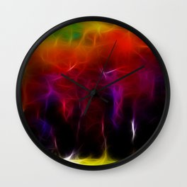 Colorful Forest Digital Wall Clock