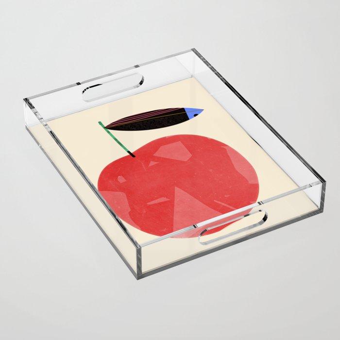 Apple Acrylic Tray